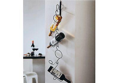 2er Set Wand Weinregal Metall Regal f. 4 Flaschen Flaschenhalter Wein Wandregal