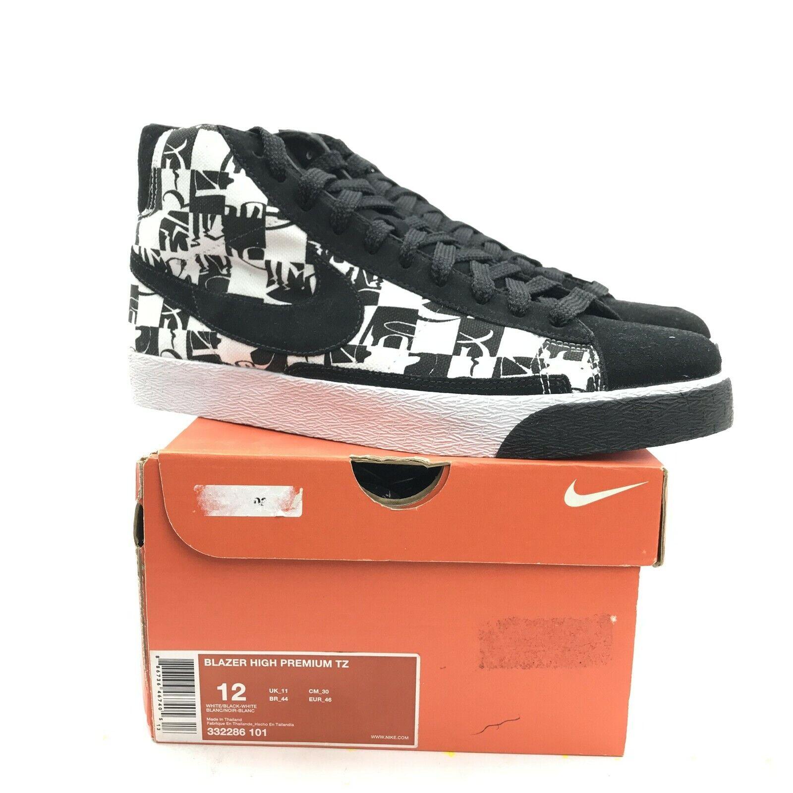 Nike Blazer High Premium TZ Stussy x Neighborhood Black LIMITED 332286-101 US 12