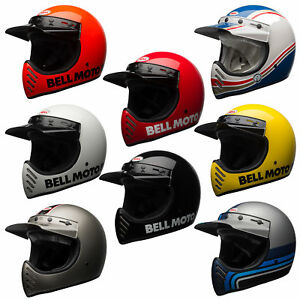 Bell Moto 3 >> Details About Bell Moto 3 Full Face Classic Motorcycle Helmet All Sizes And Colors