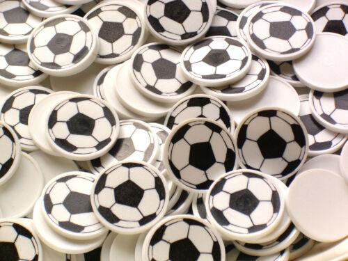 glatt ohne Griffrand mit Fussballmotiv in weiß 50 Einkaufwagenchips