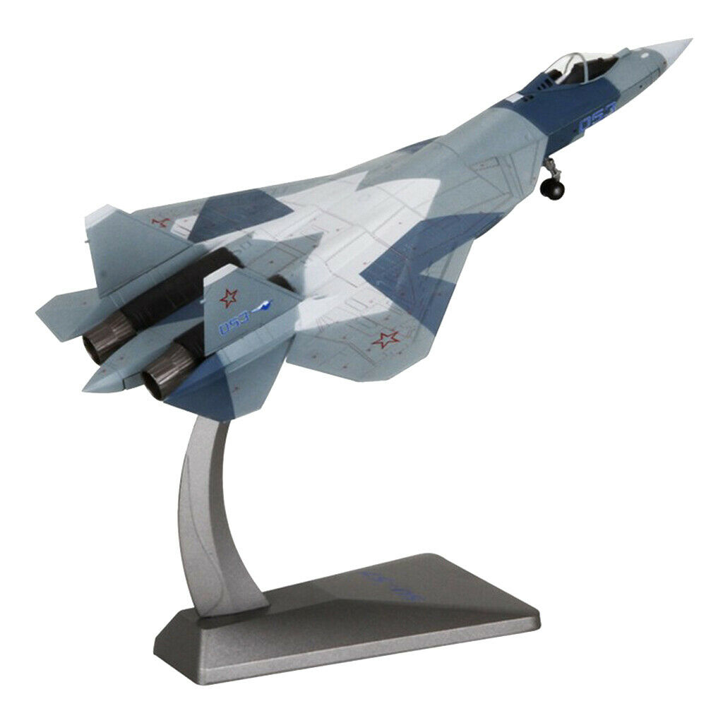 1 72 Alloy MINIATURE AIRCRAFT Sukhoi SU 57 Fighter Home Office décoratif