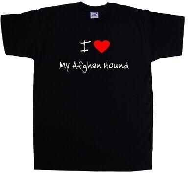 I Love Corazón mi Afghan Hound Camiseta