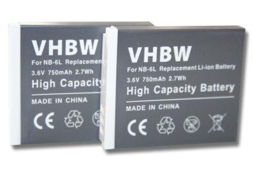 2x BATTERY FOR Canon Powershot SX540HS SX540 HS ACCU