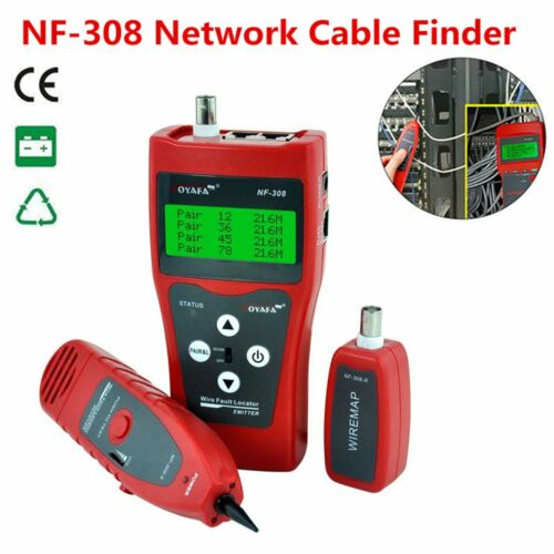 Network LAN Ethernet Telephone Cable Tester Wire Tracker RJ45 RJ11 Finder LCD LW