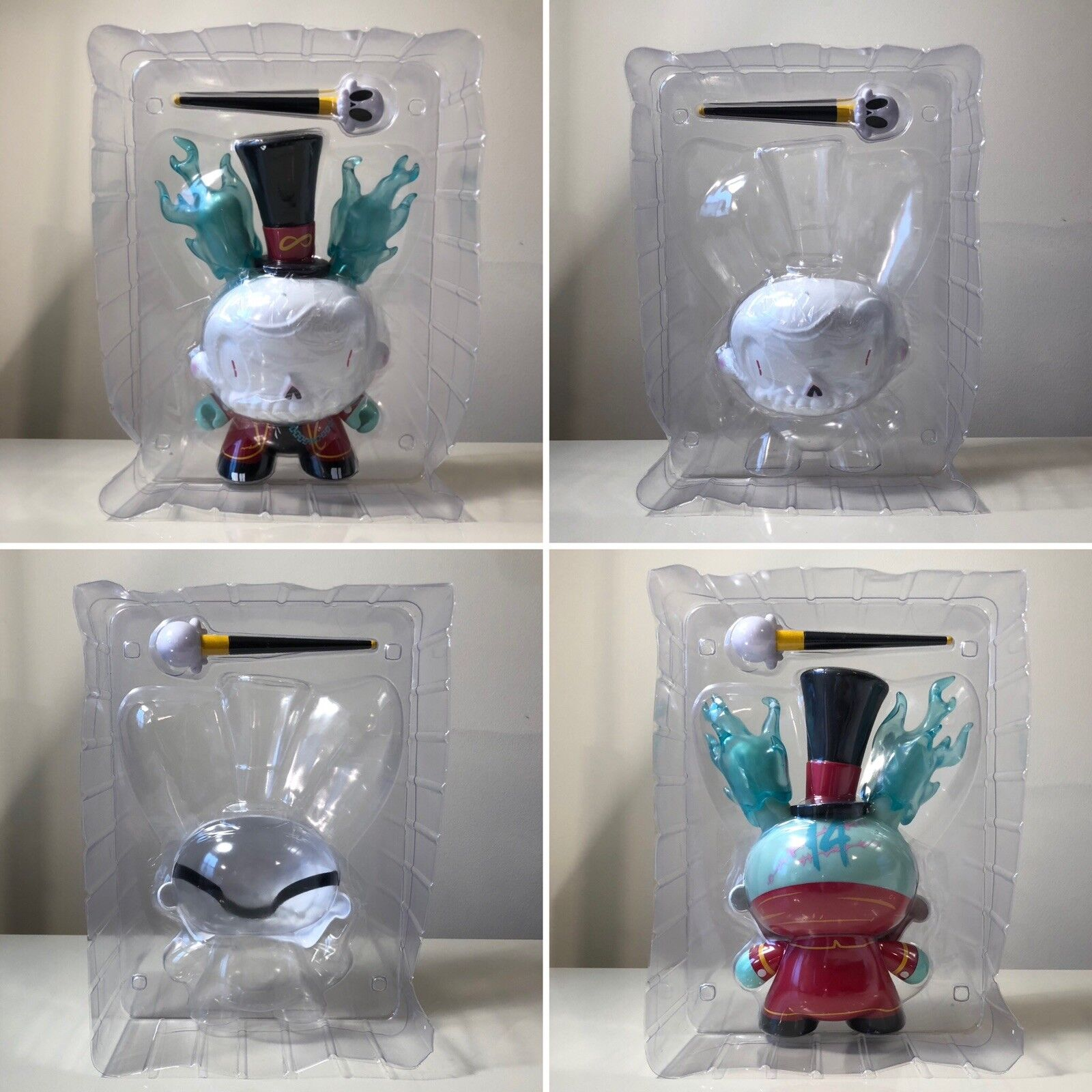 """Kidrobot Brandt Peters The The The 13 Lord Strange 8"""" RED Dunny Art Toy Limited RARE bd342c"""