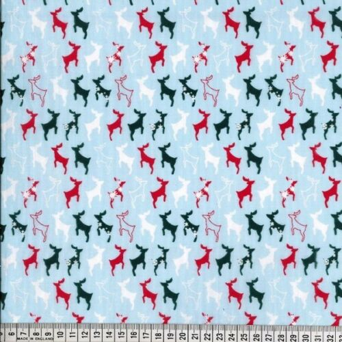 Polycotton Fabric Merry Christmas Xmas Collection Buy 3 Get 1 Free Festive