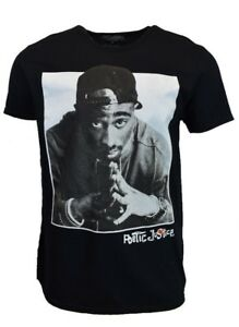 POETIC-JUSTICE-Mens-Tee-T-Shirt-Tupac-Hip-Hop-Rap-Shakur-2pac-Black-Dre-West-NEW