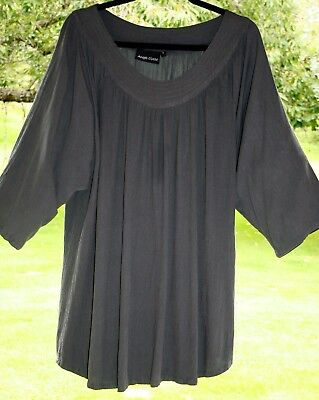 "Beautiful ANGEL CIRCLE Tunic Top 52"" Bust Dark Grey Sizes 20 22 24 PLUS SIZE"