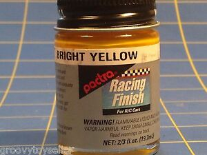 Pactra RC85 Bright Yellow Lexan Paint 2/3 oz Mid America