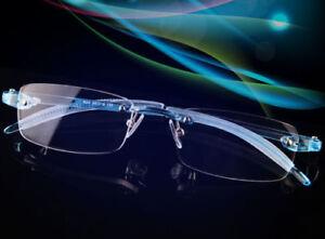 08e7b4d13c Image is loading Ultralight-TR90-Flexible-Elastic-Rimless-Eyeglass-Frame- Glasses-