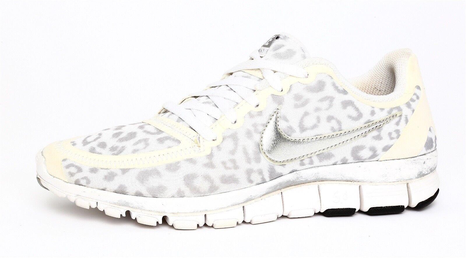 e9662061924a Nike Free 5.0 Women s Off White Grey Grey Grey Running Sneaker Sz 6.5 4276  3884be