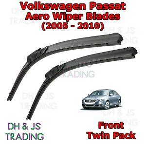 05-10-Volkswagen-PASSAT-B6-Aero-Wiper-Blades-Limpiador-de-hoja-plana-Delantero-VW
