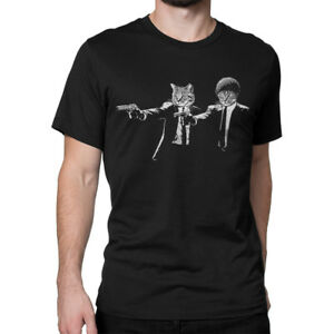 Pulp-Fiction-Cats-Funny-T-Shirt-Men-039-s-Women-039-s-All-Sizes