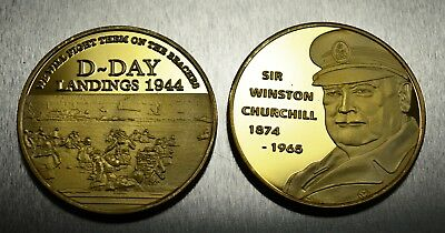 DAMBUSTERS CHURCHILL VE DAY /& D-DAY LANDINGS 3 24ct Gold WW2 Commemoratives
