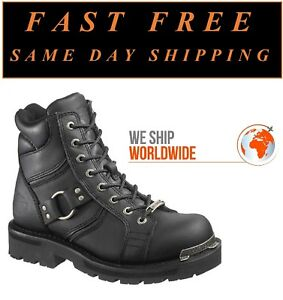 f1182d05a35f Harley-Davidson D84189 Women s Maddy 6-Inch Lace-Up Black Boots ...