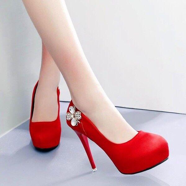 decolte eleganti  stiletto 12 1565 cm plateau rosso comodi simil pelle 1565 12 f07194