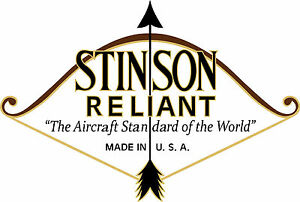 stinson reliant aircraft logo decals image is loading stinson reliant aircraft logo decals