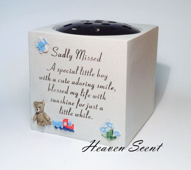 Memorial For Little Boy Grave Flower Vase Rose Bowl Pots Baby Babies