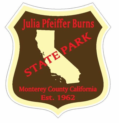 Julia Pfeiffer Burns State Park Sticker R4892 California  YOU CHOOSE SIZE
