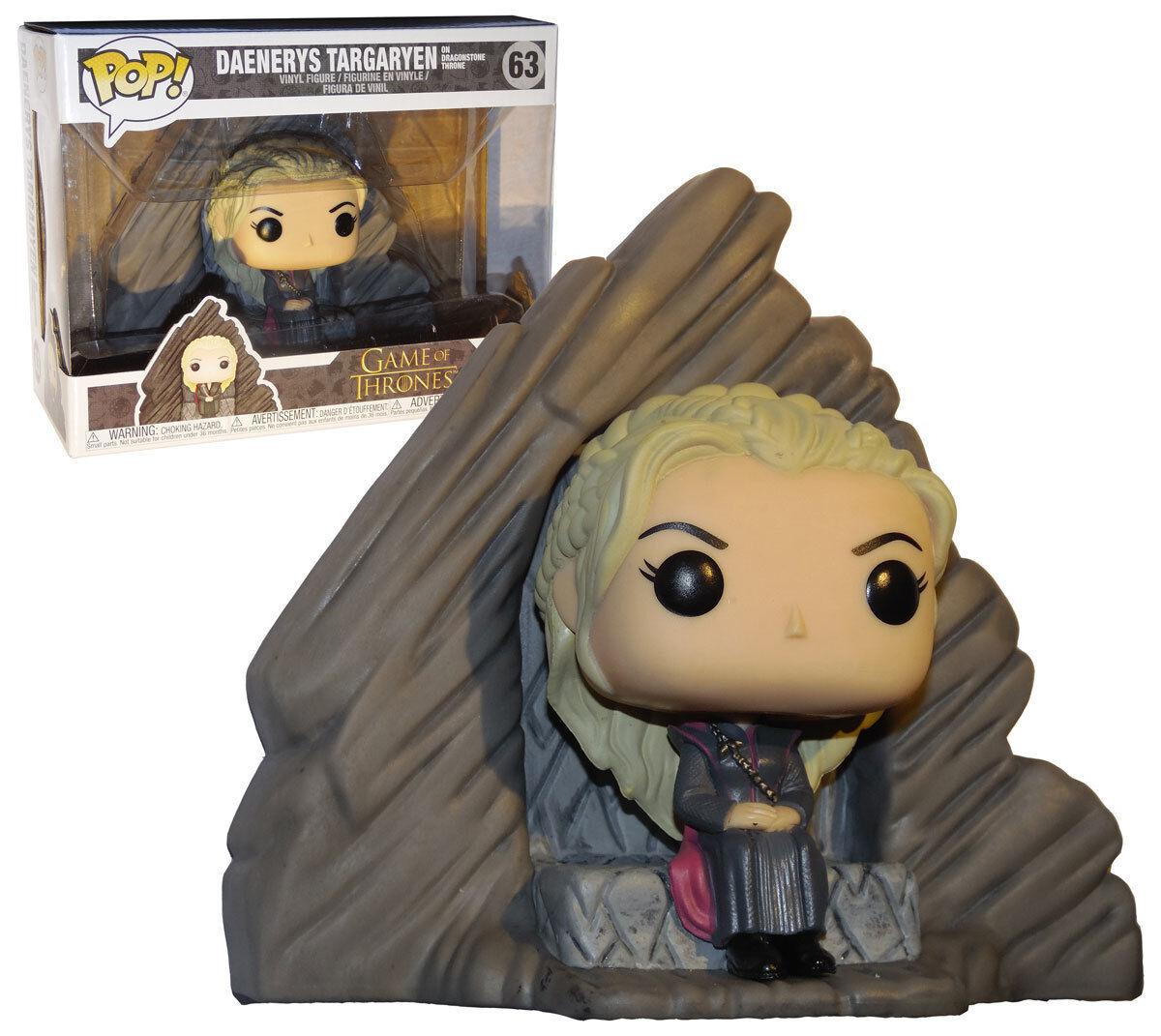 Game of Thrones Daenerys Daenerys Daenerys Targaryen On Dragonstone Throne Pop  Funko Vinyl Figure 07f071