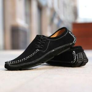 Mens-lace-up-loafer-suede-driving-shoes-lace-up-moccasin-gommino-flats-shoes