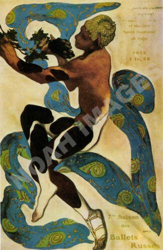 Ballets Russes vintage art deco ballet theatre poster repro 16x24