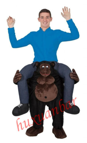 Gorilla Ride On Mascot Costume Carry Funny Party Dress Adult Cosplay Unisex Suit