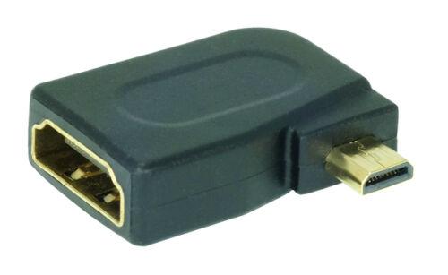90° Winkel Micro HDMI-Adaptermicro HDMI-Stecker(D) auf HDMI-Buchse(A)