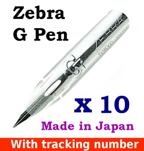 10 x Zebra G pen nib for CopperplateSpencerian writing, MangaComic tracking