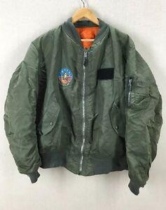 Alpha Industries MA-1 USAF Air Force Flight Jacket W/ F-14 Tomcat