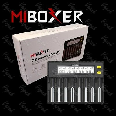 26650 21700 20700 18650 AA AAA MiBoxer C8 Eight Channel Smart Battery Charger