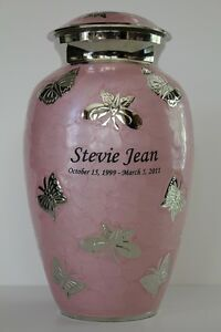 ADULT PINK BUTTERFLY CREMATION URNFUNERAL HUMAN URNS WITH FREE PERSONALIZATION - Moorpark, California, United States - ADULT PINK BUTTERFLY CREMATION URNFUNERAL HUMAN URNS WITH FREE PERSONALIZATION - Moorpark, California, United States