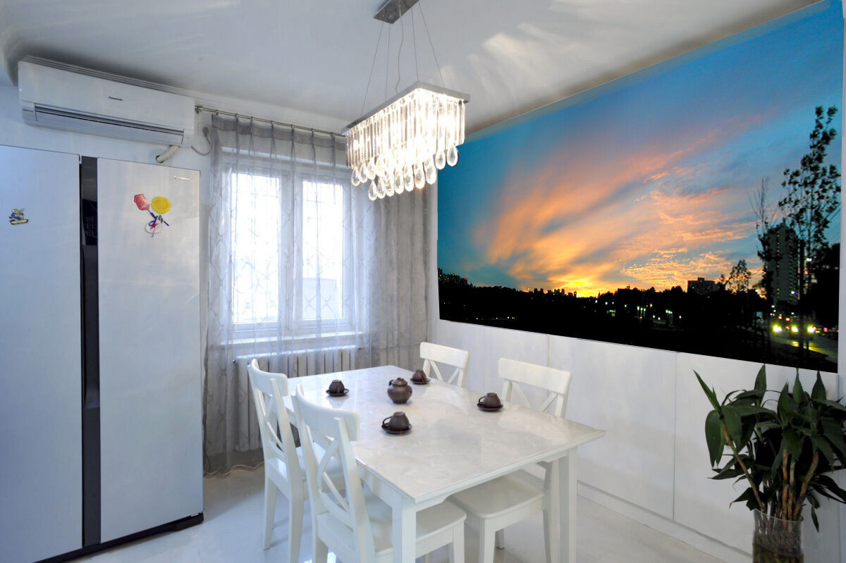 3D Der sonnenuntergang glühen Fototapeten Wandbild Fototapete BildTapete Familie