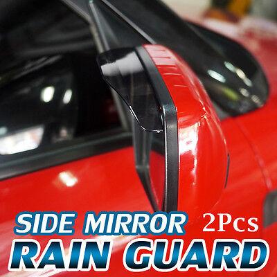Side Mirror Shade Rain Snow Visor Guard Clear View For Universial Car