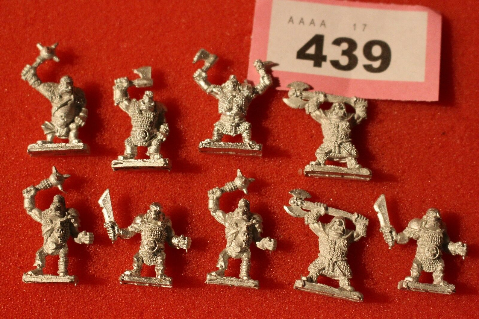 Warmaster Ogres New 10 mm Games Workshop METAL Poo orcs and gobelins Chaos Comme neuf a