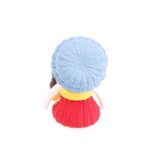 4x Girls with Hat Miniature Figurine Dollhouse Doll Garden Mini Landscape MAZY