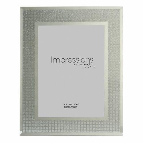 4/' X 6/' Impressions Argent Paillettes Cristal Cadre Photo