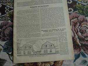 à Condition De 1912 Baugewerkszeitung 102/mons Belgique/fictif Charrue Zeulenroda (3)-ung 102 / Mons Belgien / Scheinpflug Zeulenroda (3) Fr-fr Afficher Le Titre D'origine