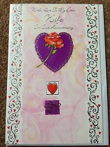 Wife Anniversary Card - <span itemprop=availableAtOrFrom>Worksop, United Kingdom</span> - Wife Anniversary Card - Worksop, United Kingdom