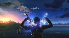 "Sword Art Online SAO ALO Japan Anime  Fabric Poster 43"" x 24"" Decor 35"