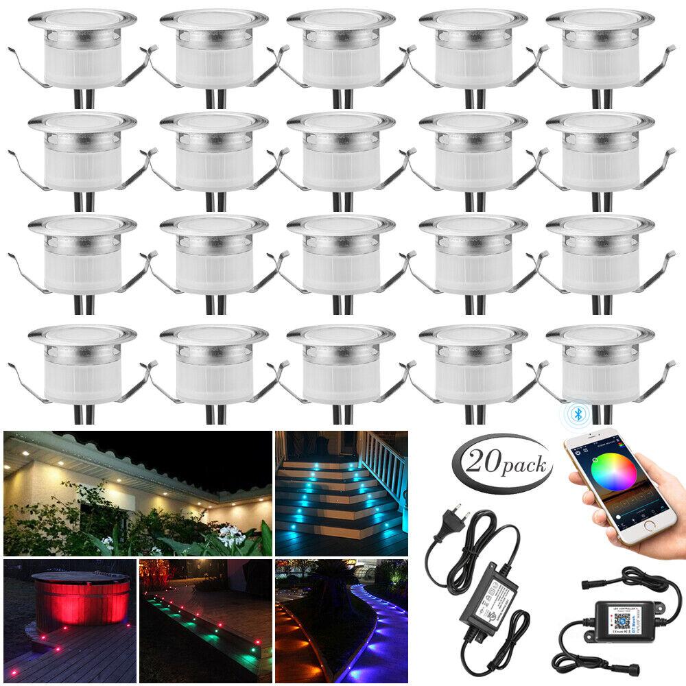 1-30X RGB WW Blautooth APP LED Einbaustrahler Terrasse Küche Garten Beleuchtung