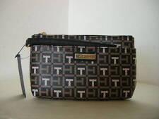 Authentic Tommy Hilfiger 6937106 990 PVC Brown Multi Women's Wristlet Wallet