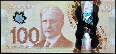 Cad One Hundred Canadian Dollars