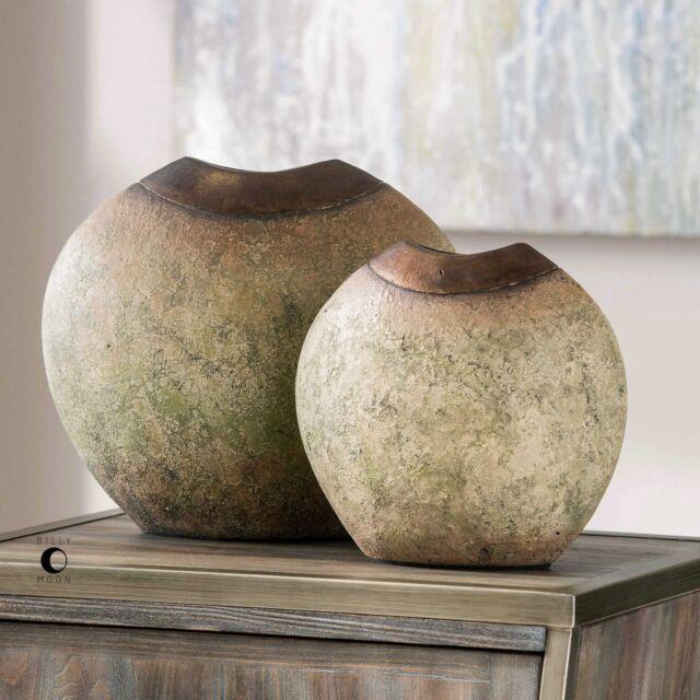 Uttermost 18860 Hadi Rustic Vases Set Of 2 Ebay