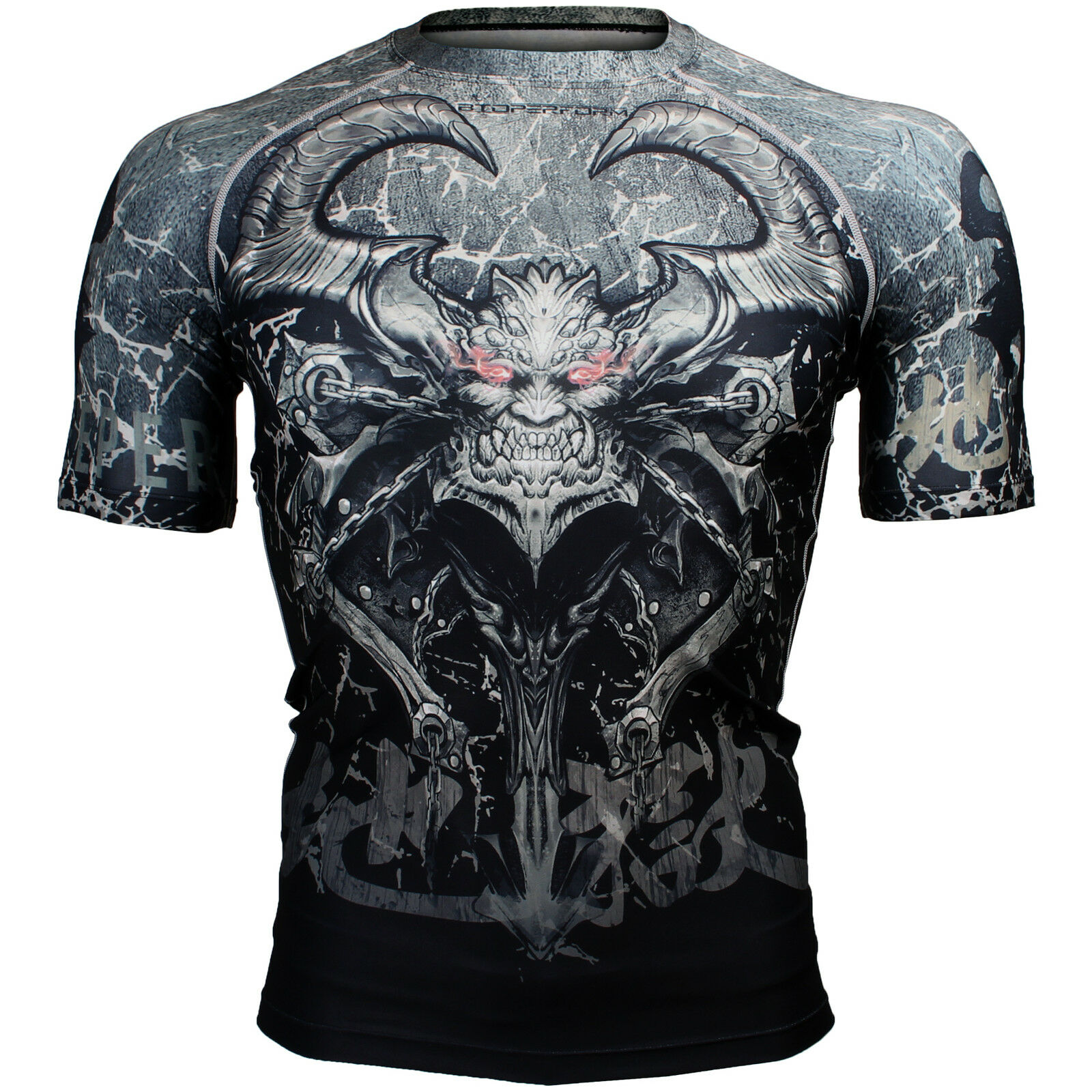 BTOPERFORM [FX-301] Skin Compression Base layer Rash guard T-shirt MMA Gym BJJ