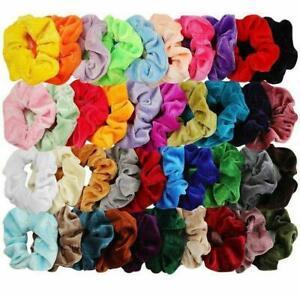 1pc Women's Velvet Elastic Scrunchies Ponytail Holder Hair Band Hair Accessories