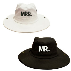 41bef59a8bc7a 100% Cotton MR. & MRS. Boonie Bucket Hats Couple's Gift Set Hats ...