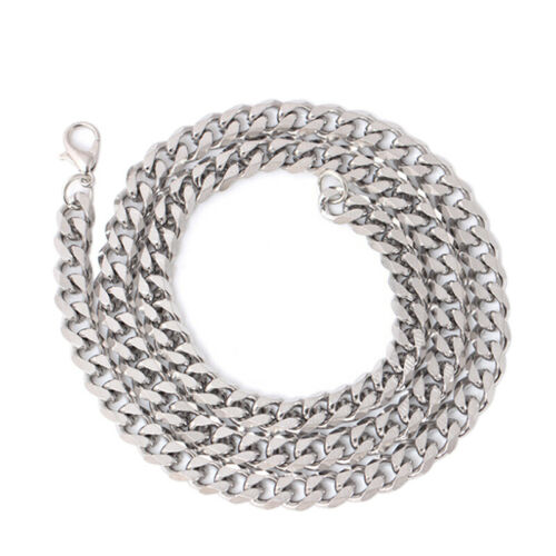 Size 4-6mm Men/'s Necklace Stainless Steel Cuban Link Chain Hip Hop Jewelry Z0HW
