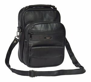 Image is loading Mens-Leather-Messenger-Shoulder-Bag-Travel-Casual-Tablet- 7515c3053cc6c