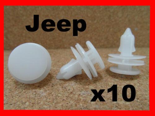 10 JEEP CHEROKEE LIBERTY push type Panneau Garniture Porte Clip de Rétention fastener 40h
